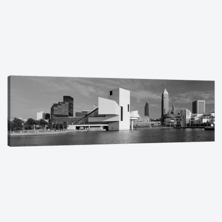 Buildings at the waterfront, Rock & Roll Hall of Fame, Cleveland, Ohio, USA Canvas Print #PIM2221} by Panoramic Images Canvas Art Print