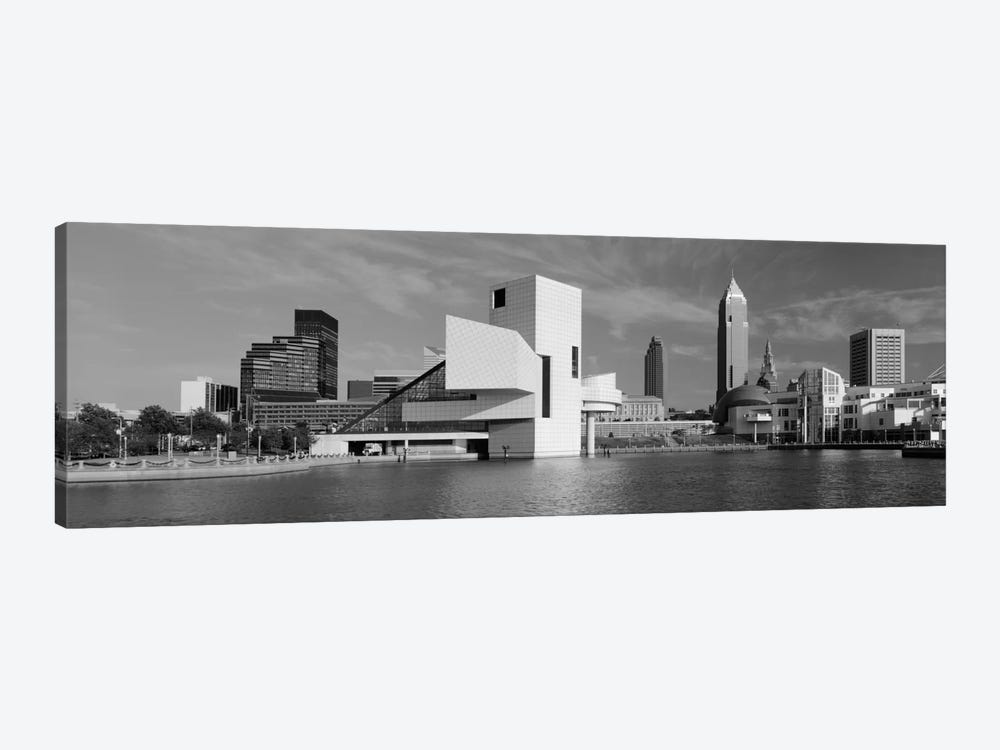 Buildings at the waterfront, Rock & Roll Hall of Fame, Cleveland, Ohio, USA by Panoramic Images 1-piece Canvas Artwork