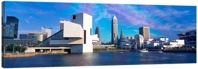 Buildings at the waterfront, Cleveland, Ohio, USA Canvas Art Print