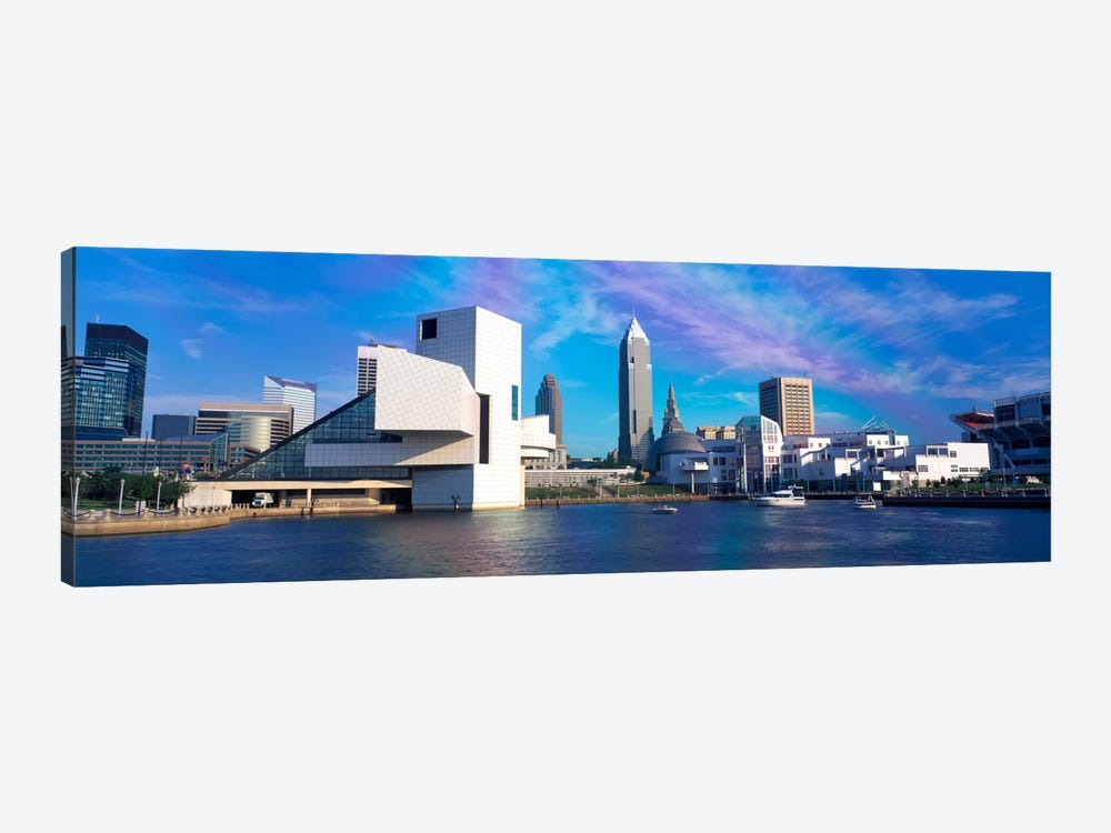 Buildings at the waterfront, Cleveland, Ohio, USA by Panoramic Images 1-piece Art Print