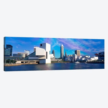 Buildings at the waterfront, Cleveland, Ohio, USA Canvas Print #PIM2222} by Panoramic Images Canvas Print