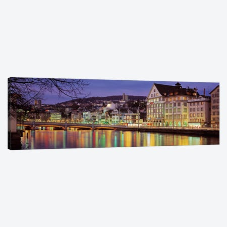 Riverfront Architecture, Zurich, Switzerland Canvas Print #PIM2223} by Panoramic Images Art Print
