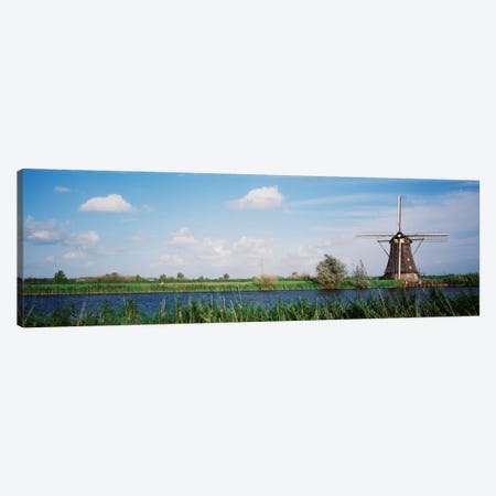 Traditional Dutch Windmill, Netherlands Canvas Print #PIM2226} by Panoramic Images Canvas Art