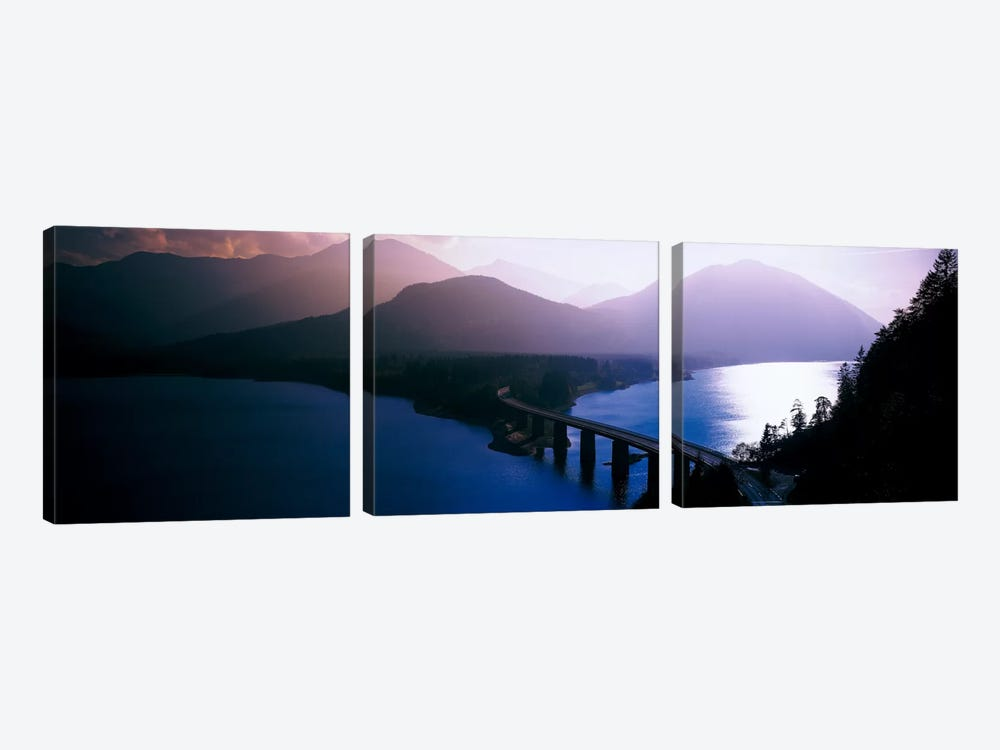 Sylvenstein Lake Bavaria Germany by Panoramic Images 3-piece Canvas Artwork