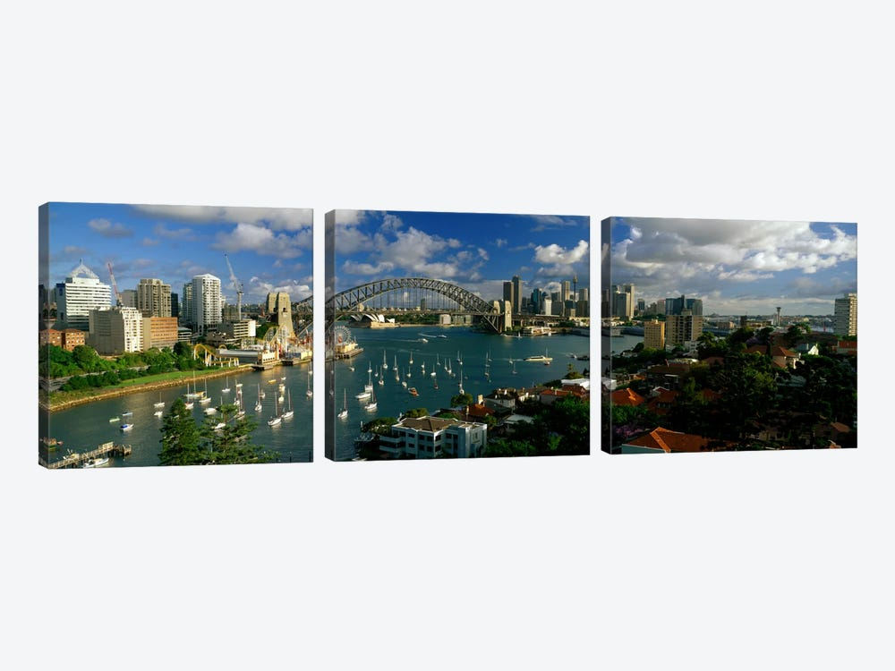 Sydney Harbour Bridge (The Coathanger), Sydney, Australia by Panoramic Images 3-piece Canvas Wall Art