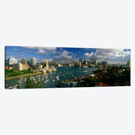 Sydney Harbour Bridge (The Coathanger), Sydney, Australia 3-Piece Canvas #PIM2236} by Panoramic Images Canvas Print
