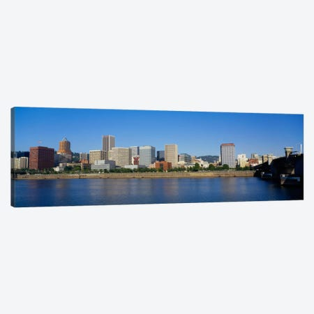 Buildings on the waterfront, Portland, Oregon, USA Canvas Print #PIM223} by Panoramic Images Canvas Art