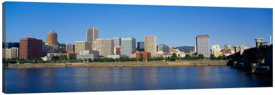 Buildings on the waterfront, Portland, Oregon, USA Canvas Art Print