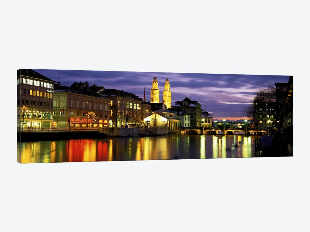 River Limmat Zurich Switzerland by Panoramic Images 1-piece Art Print