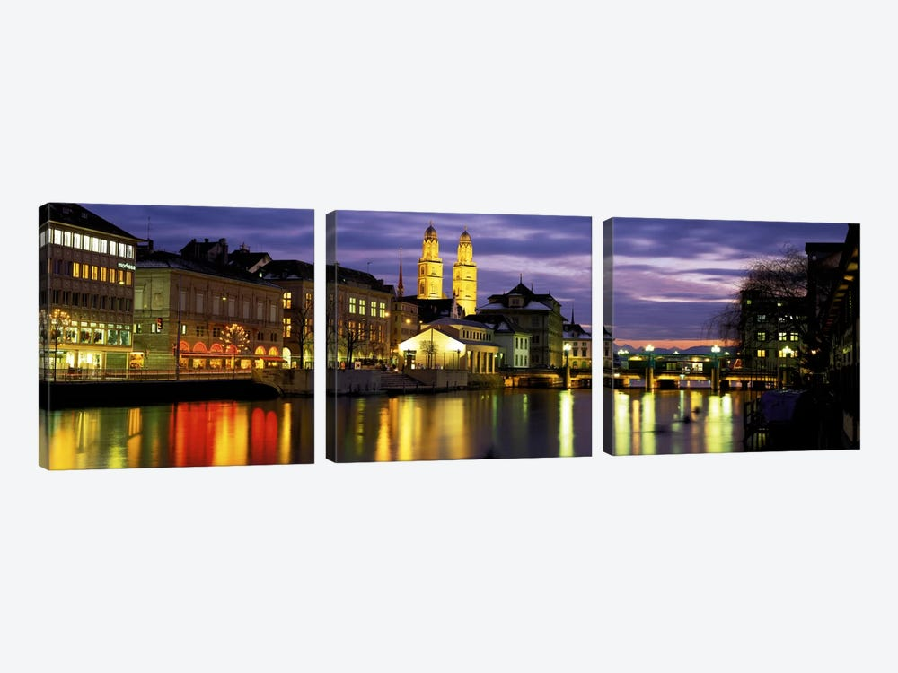 River Limmat Zurich Switzerland by Panoramic Images 3-piece Art Print