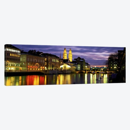 River Limmat Zurich Switzerland Canvas Print #PIM2240} by Panoramic Images Canvas Art Print