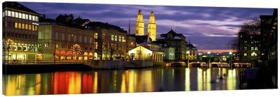 River Limmat Zurich Switzerland Canvas Art Print