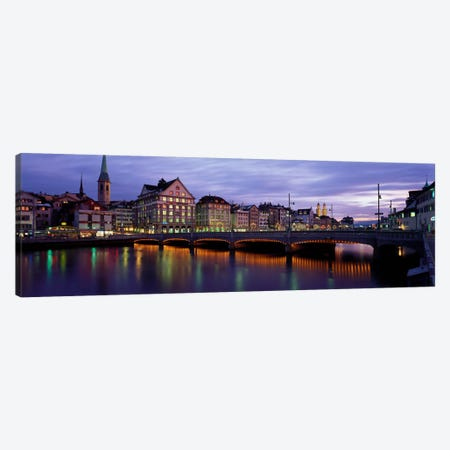 River Limmat Zurich Switzerland Canvas Print #PIM2241} by Panoramic Images Art Print