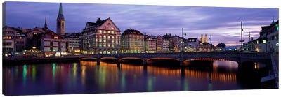 River Limmat Zurich Switzerland Canvas Print #PIM2241