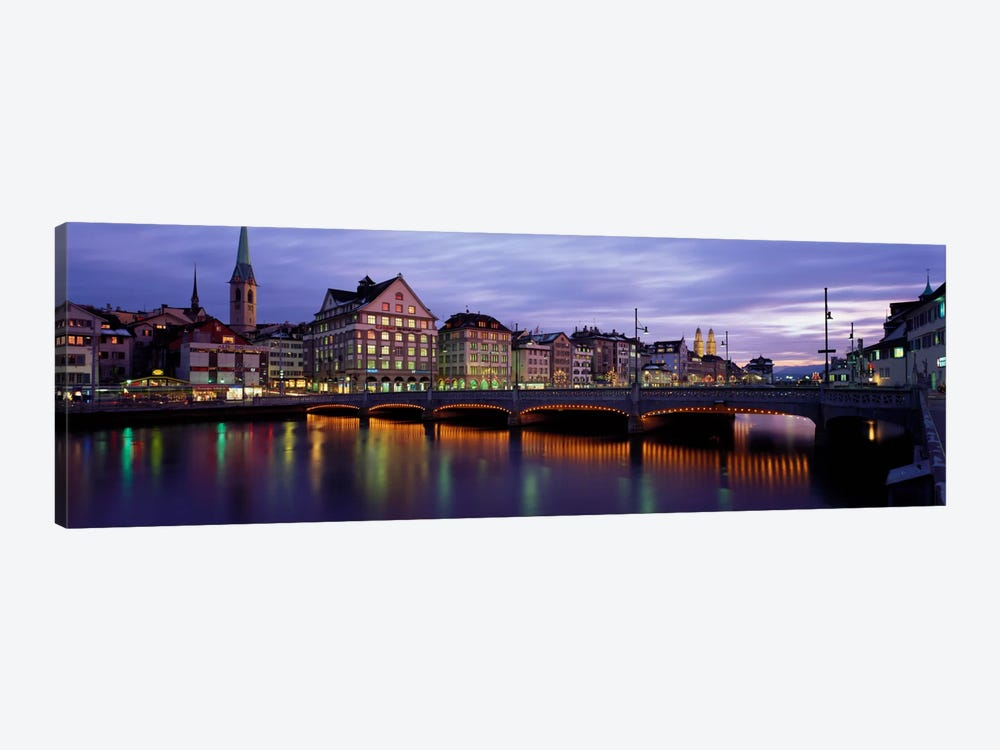 River Limmat Zurich Switzerland by Panoramic Images 1-piece Canvas Art