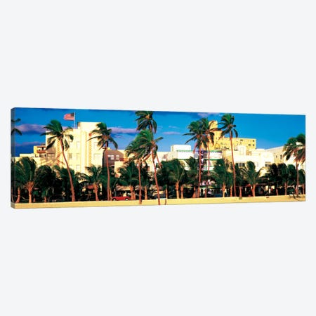 Ocean Drive South Beach Miami Beach FL USA Canvas Print #PIM2243} by Panoramic Images Art Print