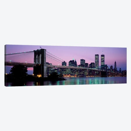 Brooklyn Bridge New York NY USA Canvas Print #PIM2244} by Panoramic Images Canvas Wall Art