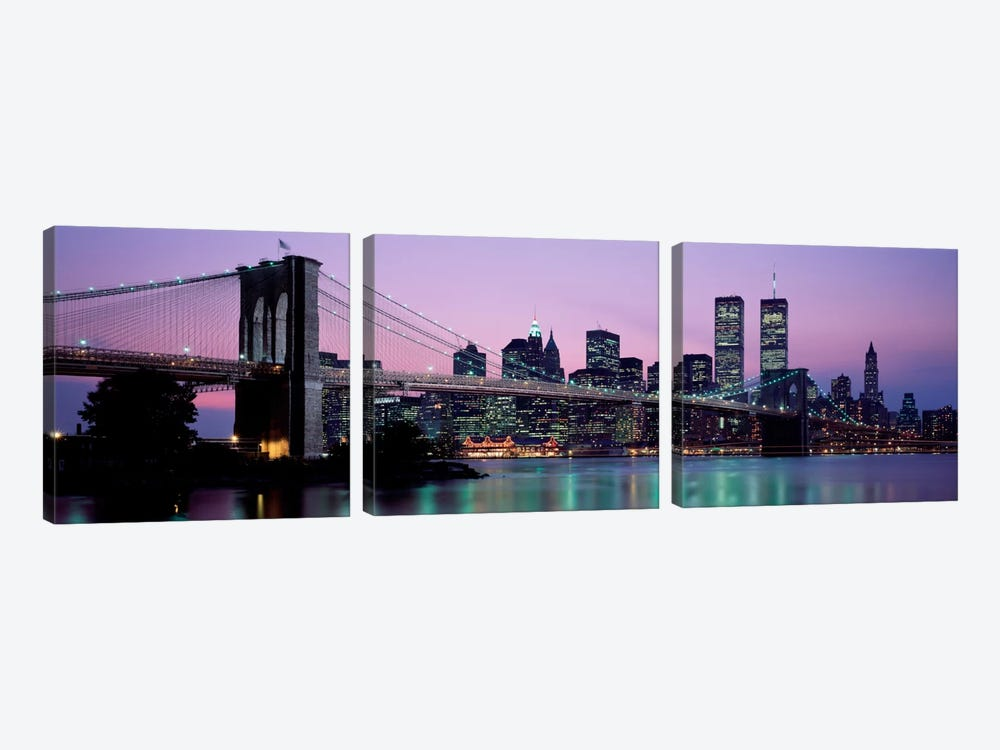 Brooklyn Bridge New York NY USA by Panoramic Images 3-piece Art Print