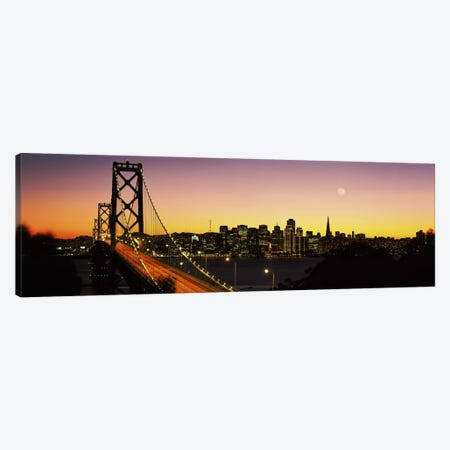 Bay Bridge San Francisco CA USA Canvas Print #PIM2245} by Panoramic Images Canvas Art
