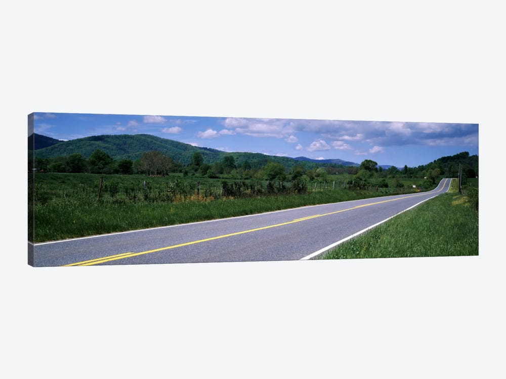 Road passing through a landscape, Virginia State Route 231, Madison County, Virginia, USA by Panoramic Images 1-piece Canvas Wall Art