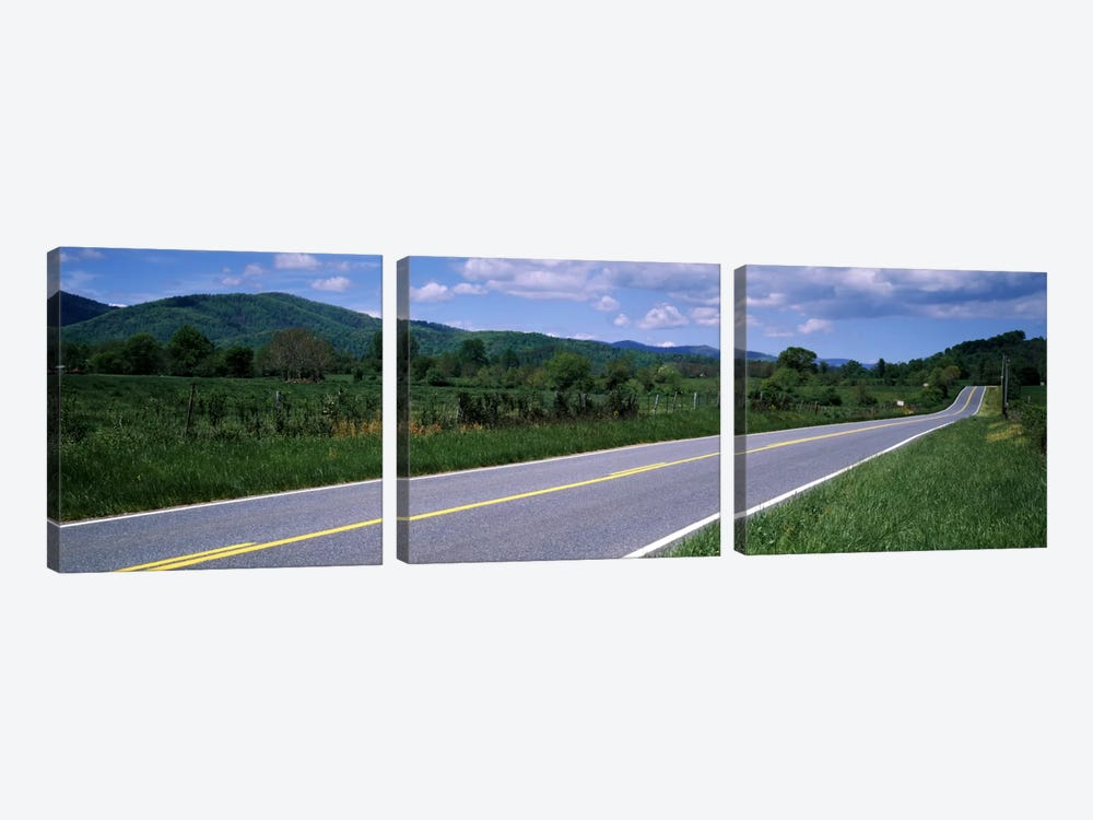 Road passing through a landscape, Virginia State Route 231, Madison County, Virginia, USA by Panoramic Images 3-piece Canvas Art