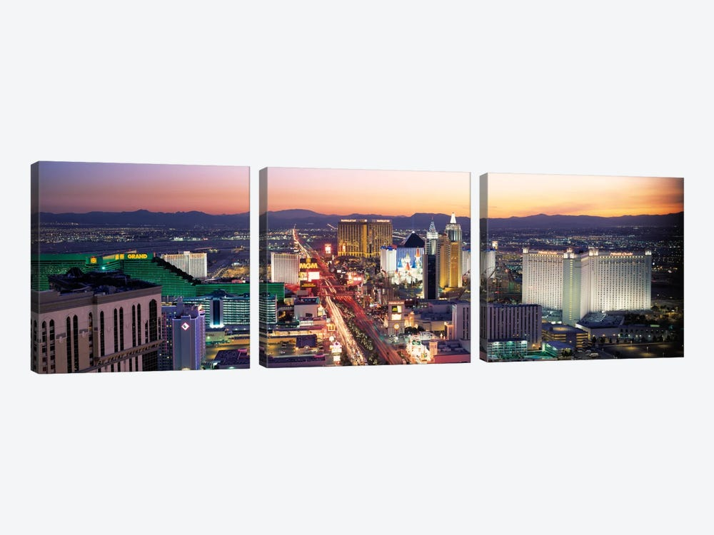 The Strip Las Vegas NV USA by Panoramic Images 3-piece Canvas Art Print