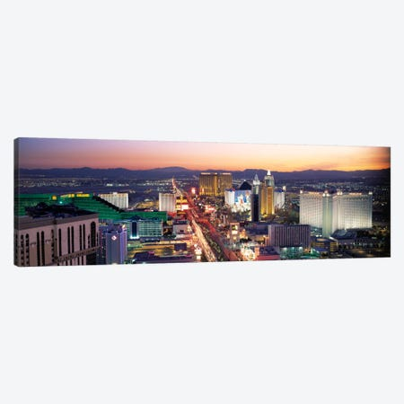 The Strip Las Vegas NV USA Canvas Print #PIM2248} by Panoramic Images Art Print
