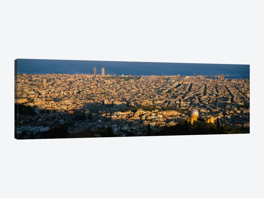 Aerial View Barcelona Spain Canvas Print Icanvas