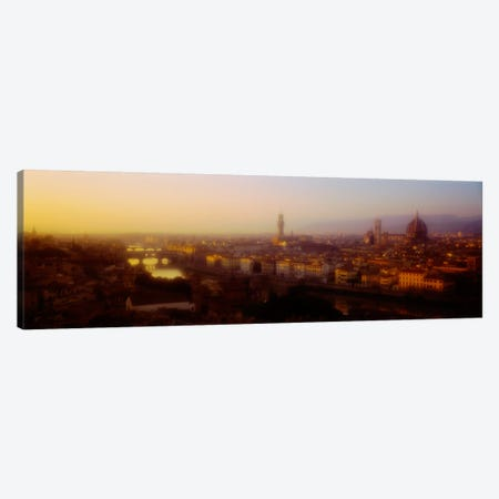 Orange Twilight, Florence, Italy Canvas Print #PIM2251} by Panoramic Images Canvas Art