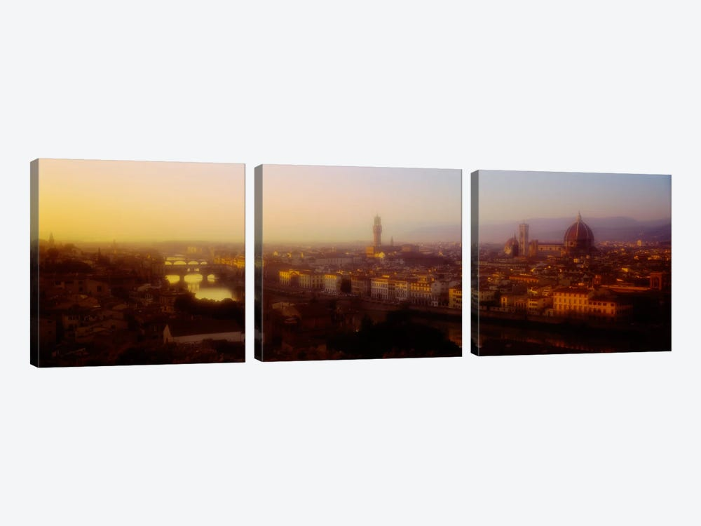 Orange Twilight, Florence, Italy 3-piece Canvas Art Print