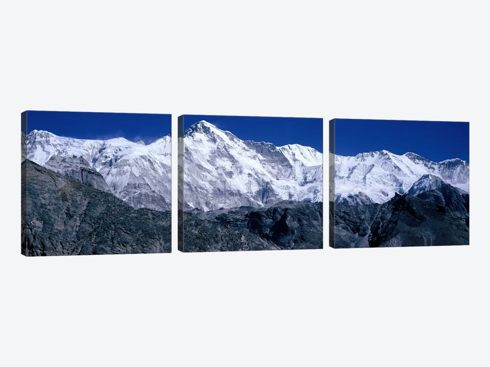 Cho Oyu from Goyko Valley Khumbu Region Nepal by Panoramic Images 3-piece Canvas Artwork