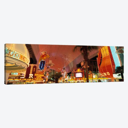 Fremont Street Experience Las Vegas NV USA #2 Canvas Print #PIM2253} by Panoramic Images Canvas Wall Art