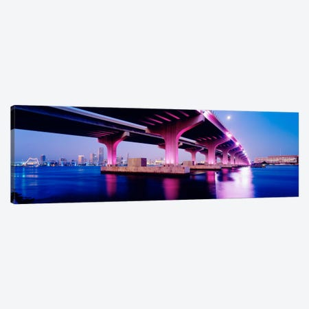 MacArthur Causeway Biscayne Bay Miami FL USA Canvas Print #PIM2255} by Panoramic Images Canvas Print