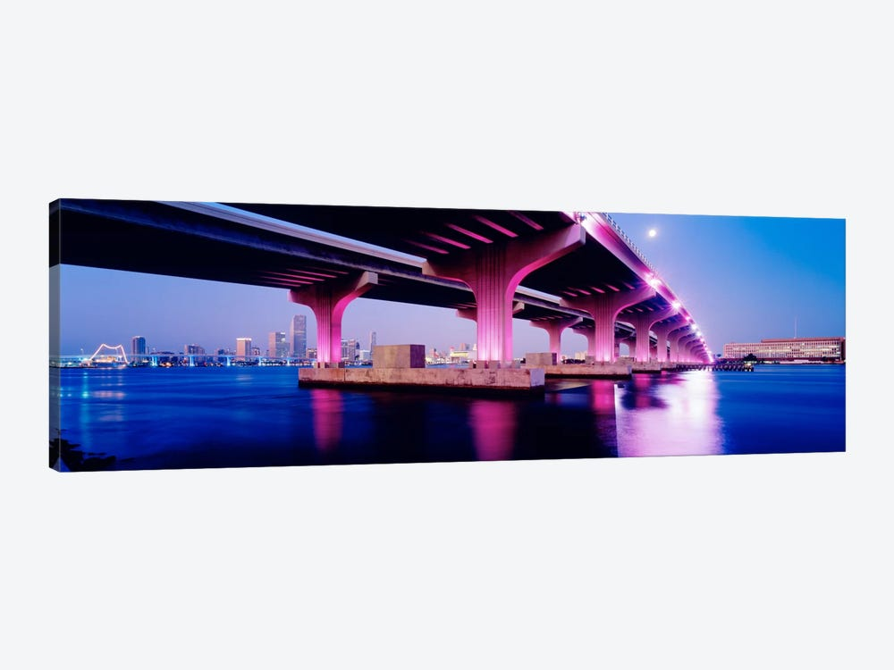 MacArthur Causeway Biscayne Bay Miami FL USA 1-piece Canvas Art Print