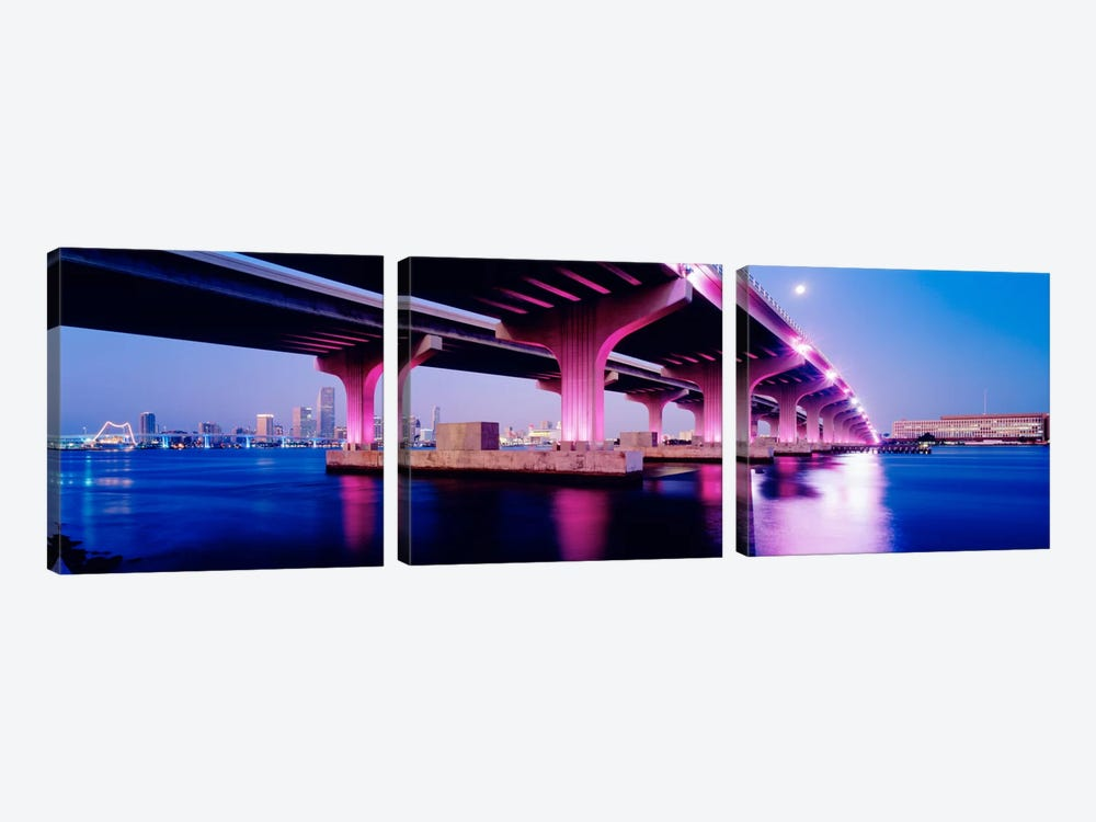 MacArthur Causeway Biscayne Bay Miami FL USA 3-piece Art Print