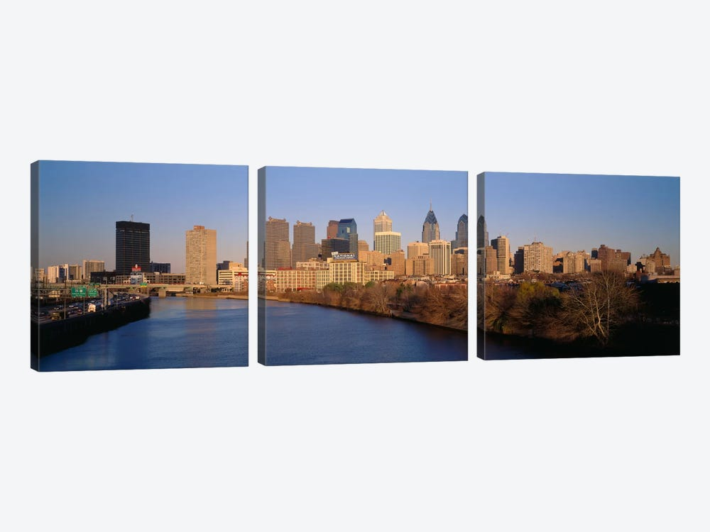 USAPennsylvania, Philadelphia by Panoramic Images 3-piece Canvas Wall Art