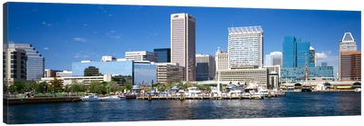 Buildings at the waterfront, Baltimore, Maryland, USA Canvas Print #PIM2262