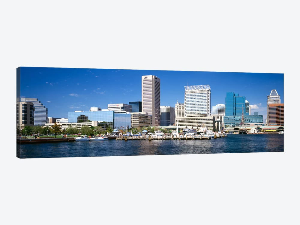 Buildings at the waterfront, Baltimore, Maryland, USA by Panoramic Images 1-piece Art Print
