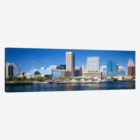 Buildings at the waterfront, Baltimore, Maryland, USA Canvas Print #PIM2262} by Panoramic Images Canvas Art Print