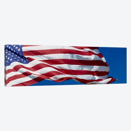 Fluttering American Flag In Zoom Canvas Print #PIM2263} by Panoramic Images Canvas Art Print