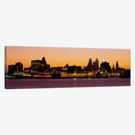Buildings at the waterfront, Philadelphia, Pennsylvania, USA Canvas Print #PIM2265} by Panoramic Images Canvas Art