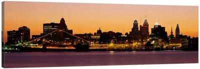 Buildings at the waterfront, Philadelphia, Pennsylvania, USA Canvas Print #PIM2265