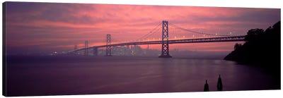 Bridge across a sea, Bay Bridge, San Francisco, California, USA Canvas Print #PIM2266