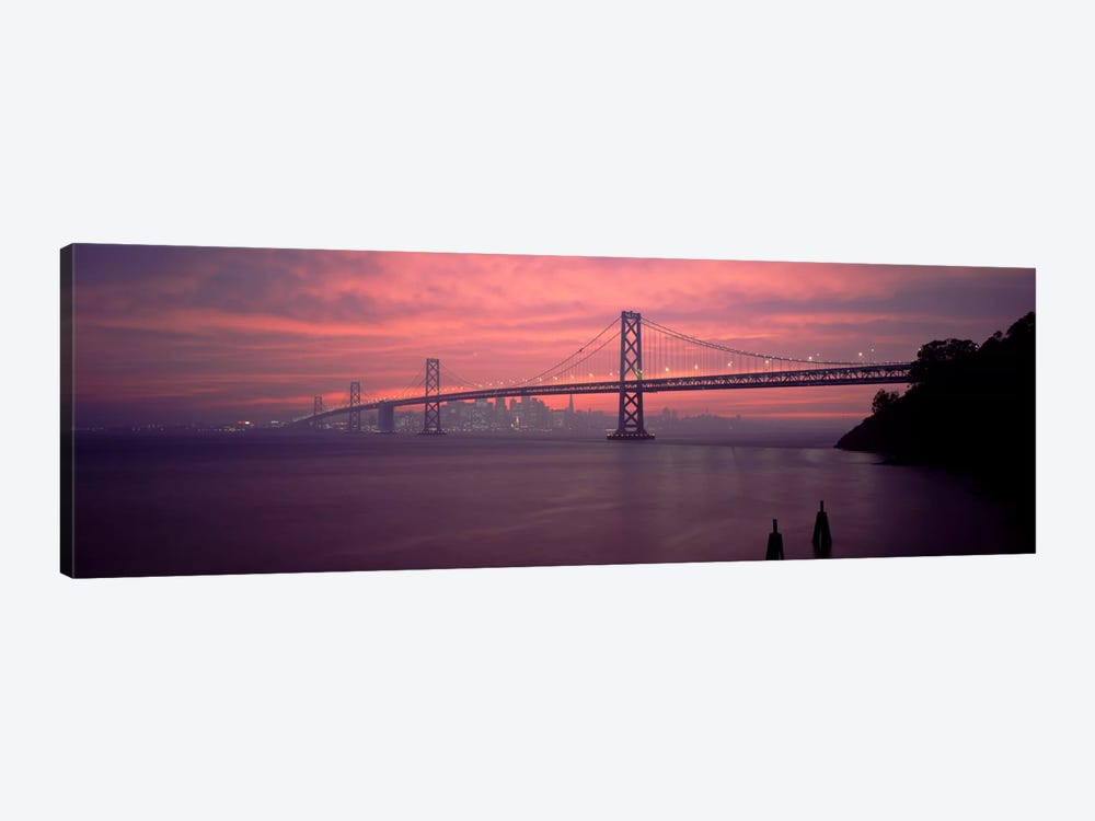 Bridge across a sea, Bay Bridge, San Francisco, California, USA by Panoramic Images 1-piece Canvas Art Print