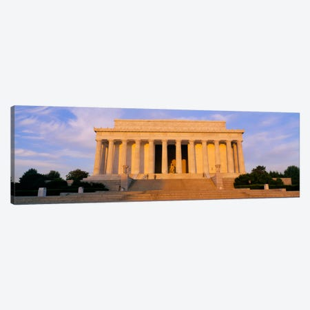 Facade of a memorial building, Lincoln Memorial, Washington DC, USA Canvas Print #PIM2267} by Panoramic Images Canvas Art