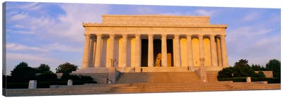Facade of a memorial building, Lincoln Memorial, Washington DC, USA Canvas Art Print