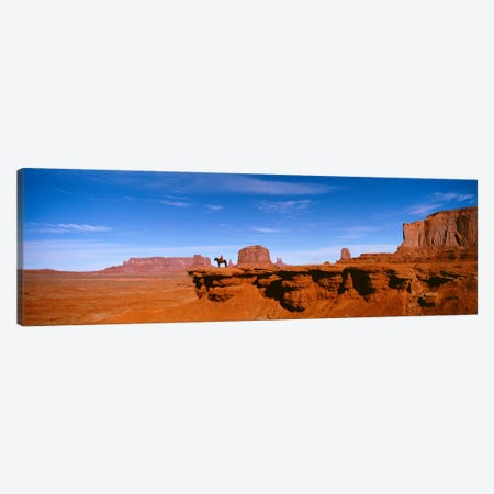 Lone Rider On A Cliff, Monument Valley, Arizona, USA Canvas Print #PIM2268} by Panoramic Images Art Print