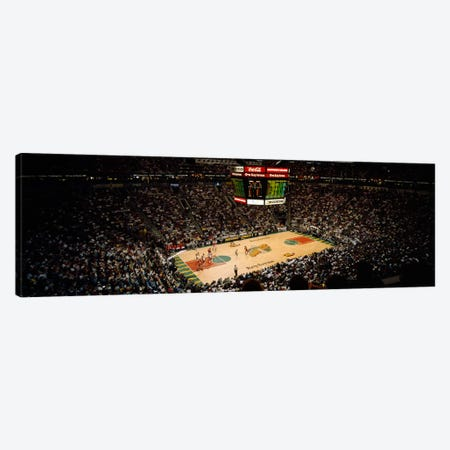 Spectators watching a basketball match, Key Arena, Seattle, King County, Washington State, USA Canvas Print #PIM2269} by Panoramic Images Canvas Art Print