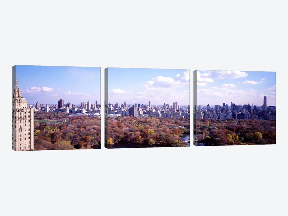Central Park, New York City, New York, USA by Panoramic Images 3-piece Canvas Artwork