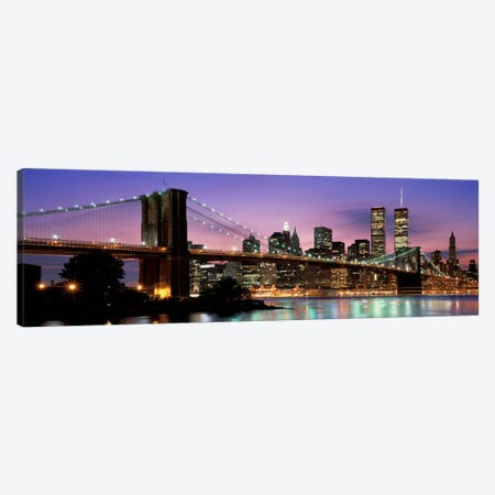 Brooklyn Bridge New York NY USA Canvas Print #PIM2272} by Panoramic Images Canvas Artwork